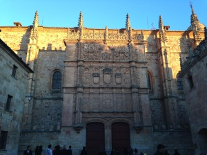 The University of Salamanca's facade.  Can you find the frog?!